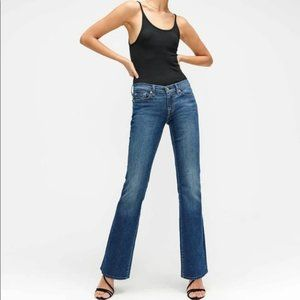 7 for all mankind original 080 bootcut blue jeans